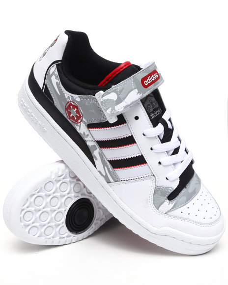Adidas Men White Forum Lo Rs Star Wars Sneakers