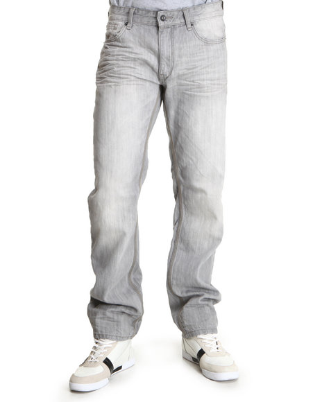 Rocawear Men Grey New Grey Straight Fit Jeans