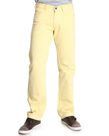 Rocawear Men Yellow Fifth Element Straight Fit Jeans