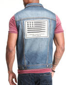 Vests - Califas Sleeveless Denim Jacket