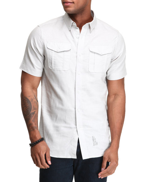 Rocawear Men Light Grey Break Into Spring S/S Button-Down