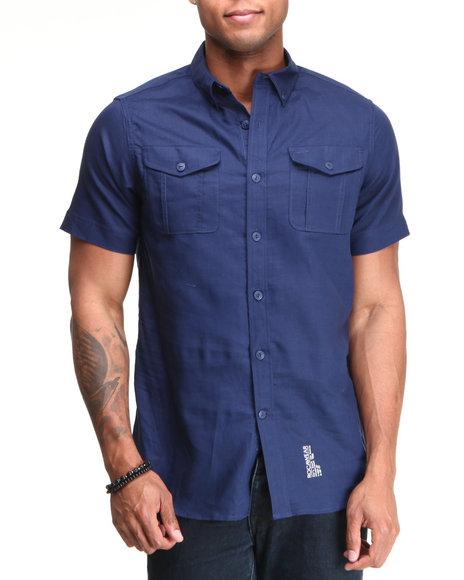 Rocawear Men Blue Break Into Spring S/S Button-Down