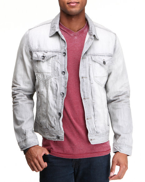 Rocawear - Men Grey New Grey Denim Jacket