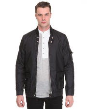 -FEATURES- - Perforated Nylon Moto Jacket