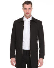 Men - Fitted Snap Tab Zip Detail Coat