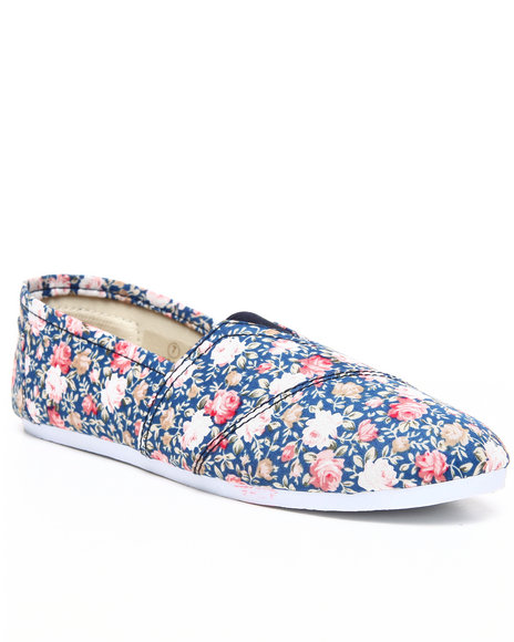 Apple Bottoms Women Navy Dreama Floral Canvas Sneaker