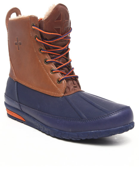 Psyberia - Men Navy,Tan Mudguard Boot