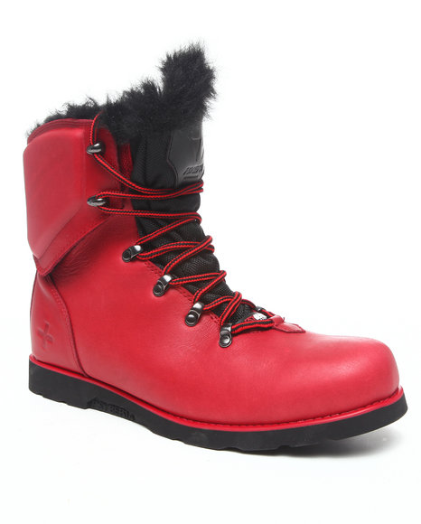 Psyberia - Men Red Hiker Boot