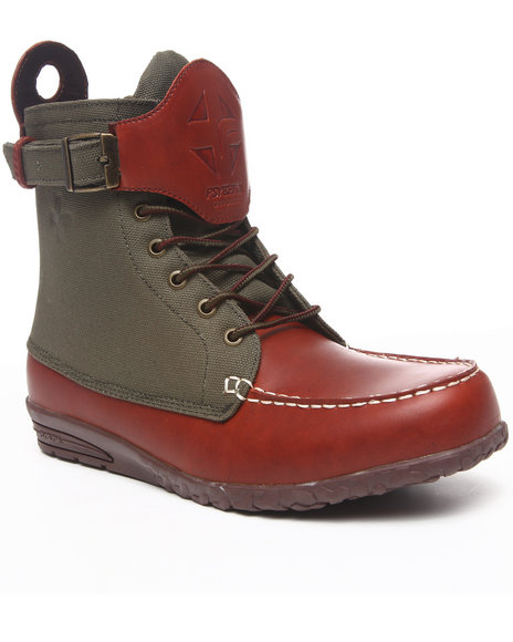 Psyberia - Men Brown,Green Endura Boots