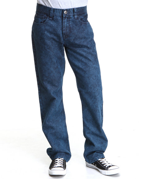 Buyers Picks Men Stone Washed Slim Straight Fit Denim Jeans Dark Blue 32x32