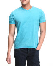 Basic Essentials - Burnout Wash V-neck Tee