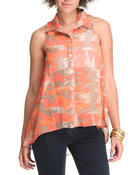 Tops - General High-Low Button down