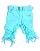 Bottoms - PORKCHOP POCKET ROUCHED CAPRIS (2T-4T)