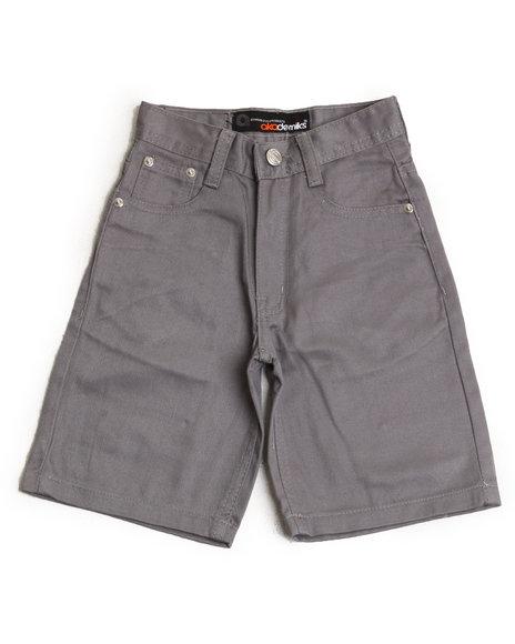 Akademiks Boys Grey Bull Denim Shorts (4-7)
