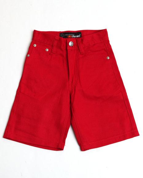 Akademiks Boys Red Bull Denim Shorts (4-7)