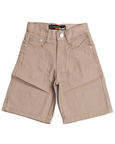 Akademiks Boys Khaki Bull Denim Shorts (4-7)