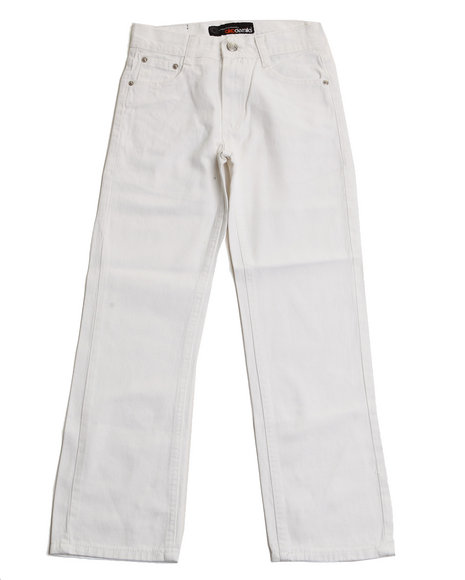 Akademiks Boys White Bull Denim Jeans (8-20)