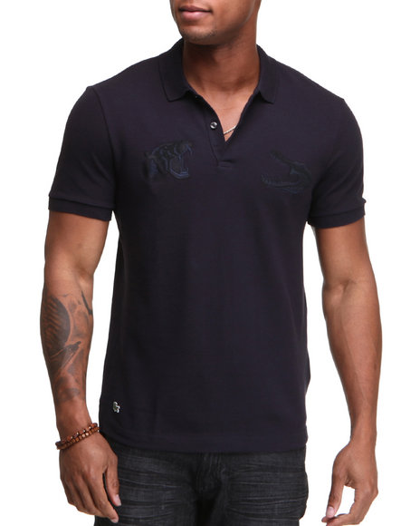 Lacoste Live Men Navy L!Ve S/S Roaring Croc Pique Polo
