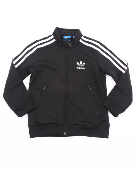 Adidas Girls Black,White Firebird Track Jacket
