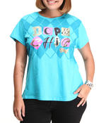 Tops - Dope Chick Tee w/print (plus)