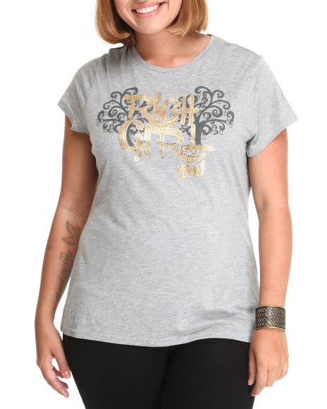 COOGI Women Grey Rich Girl Tee (Plus Size)
