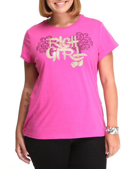 COOGI - Women Purple Rich Girl Tee (Plus)