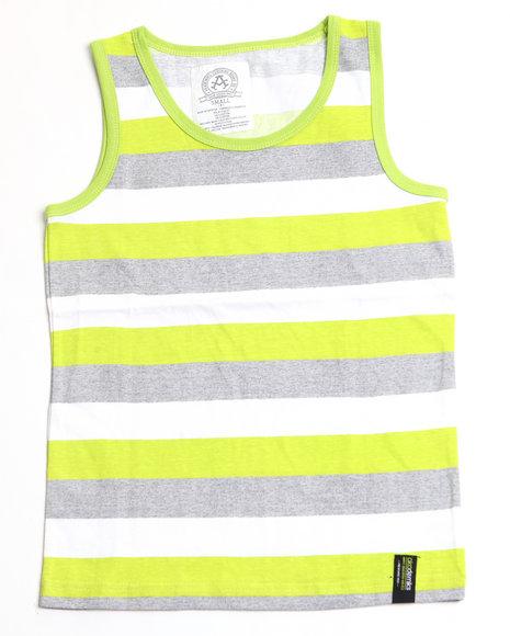 Akademiks Boys Lime Green Neon Sporty Tank Top (4-7)