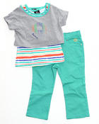 Girls - 2 PC SET - TOP & CAPRI (2T-4T)