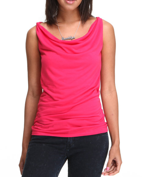 Basic Essentials - Women Red Basic Knot Tank