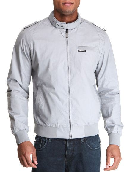 Members Only Men Grey Iconic Racer Jacket