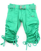Girls - PORKCHOP POCKET RUCHED CAPRIS (4-6X)
