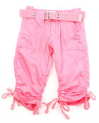 Bottoms - PORKCHOP POCKET RUCHED CAPRIS (4-6X)