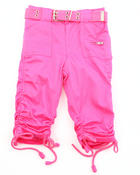 Bottoms - PORKCHOP POCKET RUCHED CAPRIS (2T-4T)
