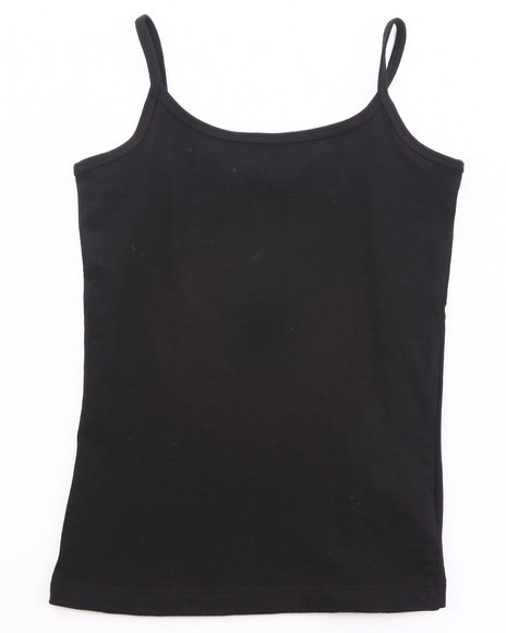 La Galleria Girls Black Cami Tank Top (7-16)