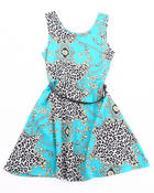 Dresses - FLORAL PRINTED SKATER DRESS (4-6X)