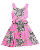 Girls - FLORAL PRINTED SKATER DRESS (4-6X)
