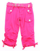 Girls - FLAP POCKET RUCHED CAPRIS (4-6X)