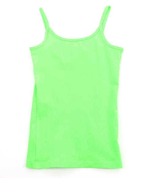 La Galleria Girls Lime Green Cami Tank Top (7-16)