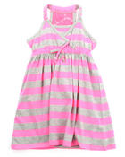 Dresses - NEON STRIPED DRESS (4-6X)