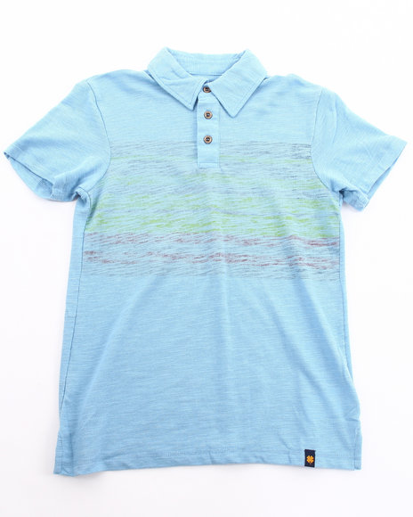 Lucky Brand Boys Blue Aktun Polo