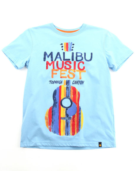 Lucky Brand Boys Blue Music Fest Tee (8-20)