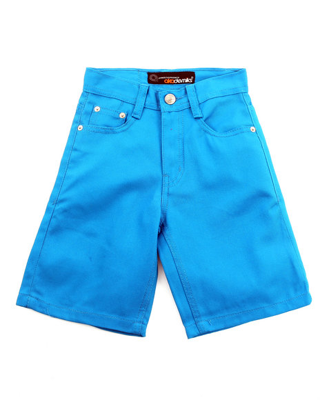 Akademiks Boys Teal Bull Denim Shorts (4-7)