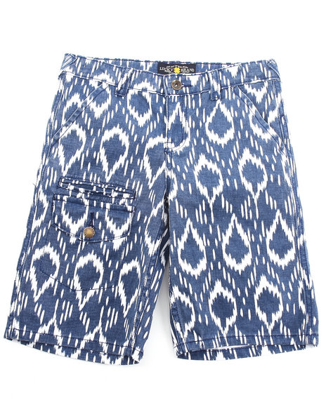 Lucky Brand Boys Blue Bahia Printed Shorts (8-20)