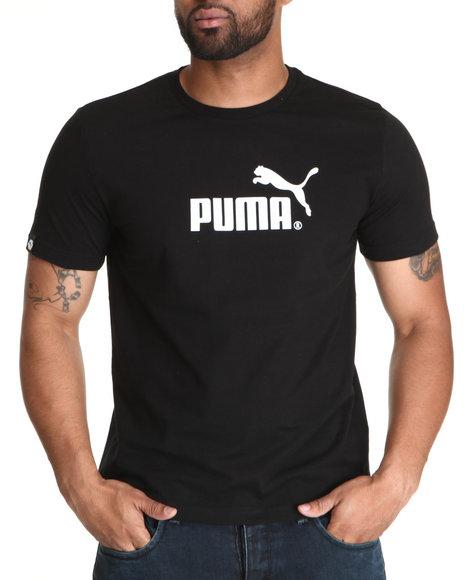 Puma Men Black No 1 Logo Tee