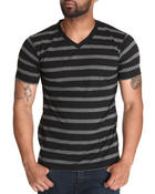 T-Shirts - Jersey Stripe V-Neck Tee