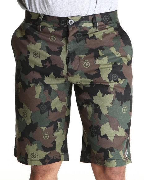 LRG Men Black,Camo Core Collection True-Straight Chino Shorts