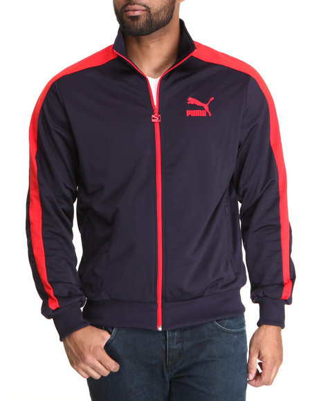 Puma Men Navy Heroes T7 Track Jacket