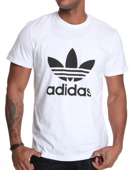 Adidas - Men White Trefoil Tee