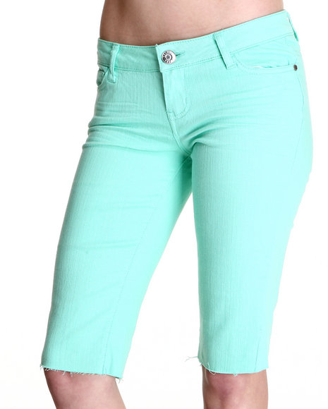 Celebrity Pink Women Green Jean Capri