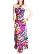 Fashion Lab - Toni Halter Printed Maxi